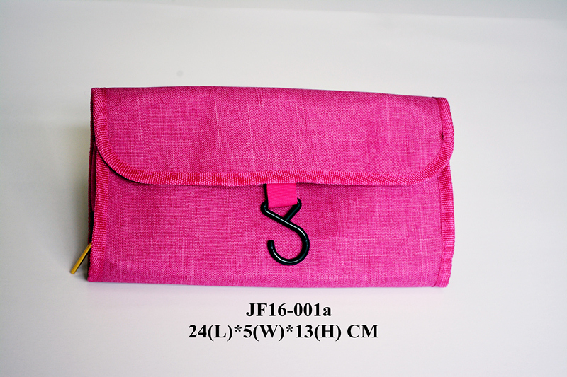 Pink Linen Rolls Promotional Bag w/Hook