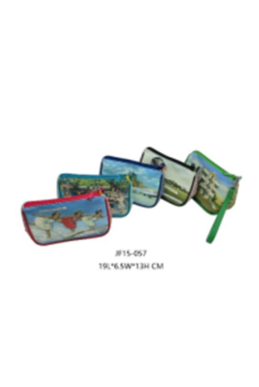 PU Cosmetic Bag with Full Page Printing
