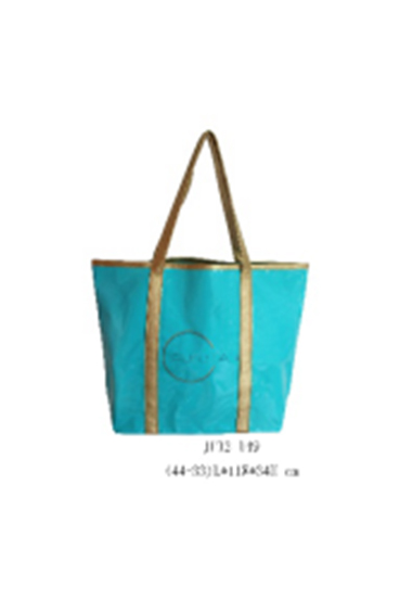2018 New Style Glossy PVC Beach Bag with Handle