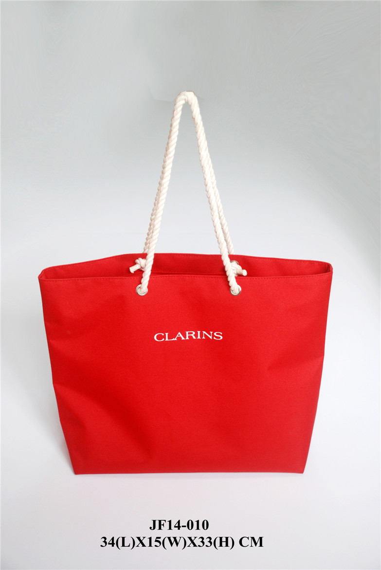 Red 600D Polyester Tote Bag with Handle