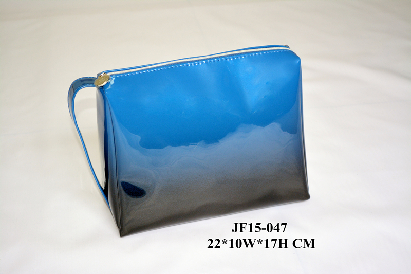 Gradiant Color Shiny PU Fashion Cosmetic Bag
